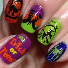 Trick or Treat! #halloweennails #halloween #nails #nailart