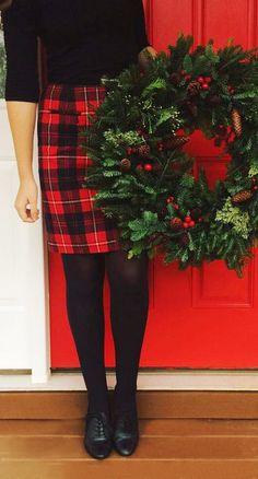 Tartan skirt at Christmas time