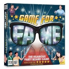 "Game for Fame Party Board Game for Adults. Game for Fame is the best-selling party board game for families and friends which has left many Amazon reviewers ""crying with laughter"". Race from rags to riches and end up in stitches in a series of hilarious activities."