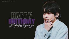 Happy V day🎂 Slogan Design, Graphic Design Posters, Poster Design Software, Happy Brithday, Happy V Day, Bts Birthdays, Pop Stickers, Ideas For Instagram Photos, Korean Boy Bands