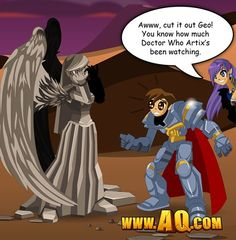 YESSSS AQworlds and Doctor Who! Can things get better than this? (Answer: Probably not)