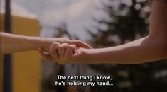 Gay Couple, Jandy Nelson, Bon Film, Wellness Quotes, Movie Lines, Hold My Hand, Film Quotes, Book Girl, Quote Aesthetic