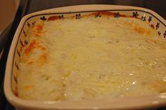 white enchiladas