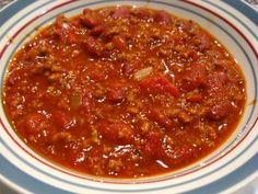 I actually took 5 chili recipes and took out all the things I didnt like and kept all the things I did.  This has become my very own version of the perfect bowl of chili!