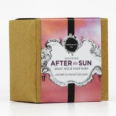 Our After-the-Sun Soothing Bar soap contains organic green tea extract ...
