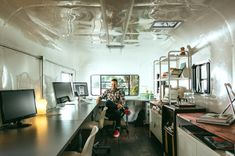 Work on the road! Airstream office - Mobile Design Studio, Colorado #workdifferent #workWTF