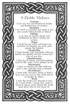 Asatru code of honor. This ancient Nordic code is as relevant today as it was a thousands of years ago. The last code, Truth, is my favorite. Wicca, Magick, Witchcraft, Norse Pagan, Norse Mythology, Viking Quotes, Viking Sayings, Irish Sayings, Symbole Viking