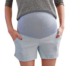 Hibukk Womens Summer Girly Candy Elegant Elastic Waist Maternity Shorts SkyBlue 8 ManufacturerXL ** Check this awesome product by going to the link at the image. (This is an affiliate link and I receive a commission for the sales) Maternity Shorts, Elastic Waist, Image Link, Girly, Note, Candy, Elegant, Amazon, Awesome