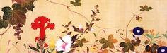 酒井抱一「四季花鳥図巻」 江戸時代後期