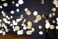 mischer traxler's kinetic mobile lights for London Design Festival