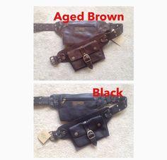 En cuir ceinture d'utilité, sac banane, sac de hanche, ceinture, sac de taille, hanche pack, lebelp, vêtements festival de poche
