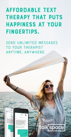 Don't Spend A Fortune On Office Visits. Try Affordable Online Therapy w/ Video, Audio and Unlimited Messaging. Chat w/ a Licensed Professional Therapist Today. Over 500,000 Happy Talkspace Users! Plans start at $32/Week. Download the Android app today!  Whether you're looking for ways to  manage anxiety, depression, addiction, or simply need professional advice for every day stress - Talkspace will match you to a licensed online therapist that is there for you whenever & wherever.