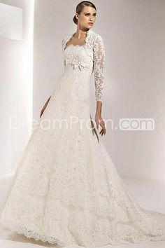 US $239.19 Free Shipping Gorgeous Empire Strapless Sleeveless Floor-Length Wedding Dresses