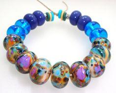 Handmade Lampwork Glass Bead Set Opal Yellow by elizabethsbeads, $25.00
