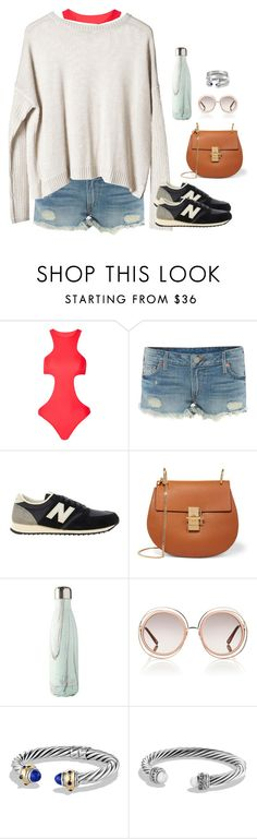 """rly."" by kitkatdana ❤ liked on Polyvore featuring Mikoh, True Religion, Cheap Monday, New Balance, Chloé, David Yurman and Cartier"