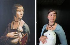 Teen tableau vivant project for Leonardo's Lady with an Ermine