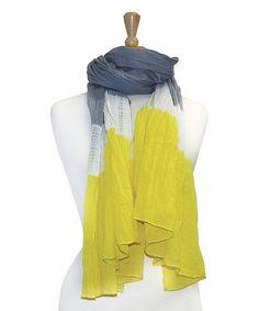 Yellow Tie-Dye Scarf #zulily #zulilyfinds