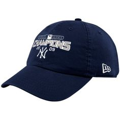 New Era New York Yankees Navy Blue 2009 World Series Champions Adjustable Slouch Hat