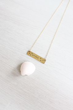 Aries necklace Gold Aries zodiac necklace by MoonTideJewellery