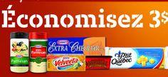 5$ en coupons pour les fromages de Kraft! - Quebec echantillons gratuits Cheddar, Parmesan, Cracker, Velveeta, Mets, Coupons, Free Samples, Drinks, Food