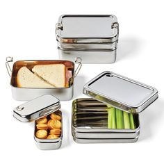 These look very cool!  Stainless Steel 3-in-1 ECOlunchbox