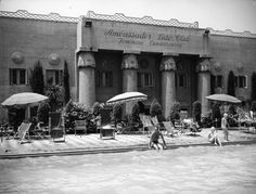 1930s spa at the Ambassador Hotel Los Angeles - now a school