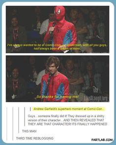 Andrew Garfield wins Comic Con…