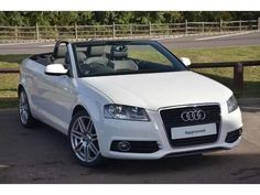 White Audi Convertible A3