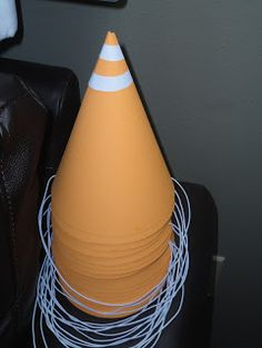 Traffic Cone Party Hats - too cute and an easy DIY