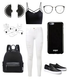 """""""-The One-"""" by kateescobar ❤ liked on Polyvore featuring Frame Denim, Givenchy, Linda Farrow and Lulu Frost"""