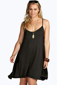 Plus Georgina Strappy Swing Dress at boohoo.com