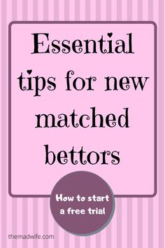 All the terminology and tips you need to get started matched betting. Must know information for anyone new to matched betting.  Tips from an Oddsmonkey member. Free Cash, Tax Free, Matched Betting, Starting School, Looking Online, Online Income, Lost Money, Casino Bonus, Book Making