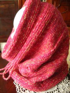 Snood VALERIE - snood capuche en laine mélangée - en vente chez ALM Misty Tuss Tricote