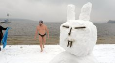 A swimmer gets out of the water next to a snowman with bunny ears at the snow covered beach of Strandbad Lake Wannsee lido in Berlin, Germany, Good Friday March 29, 2013. . '(AP Photo/dpa, Rainer Jensen)  There is currently a massive storm churning over the Atlantic that spans the entire ocean basin, stretching all the way from Canada to Europe, and from Greenland to the Caribbean.    It's the same weather system that brought a massive spring blizzard earlier this week