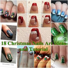 18 Christmas Nails Art Ideas and Tutorial