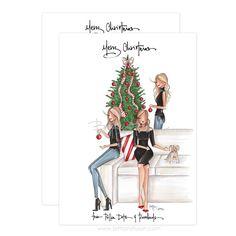 A peak into the 2016 world of custom Christmas cards. Winter Wonderland Christmas, Cozy Christmas, 1st Christmas, Vintage Christmas, Christmas Holidays, Natural Christmas, Watercolor Christmas Cards, Christmas Drawing, Christmas Illustration