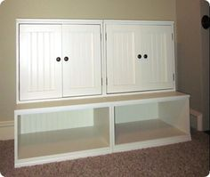 DIY playroom storage.  This is actually a link to a tutorial.  The original site for some reason won't pin??