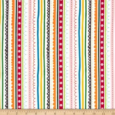 Daydream Girl Flannel Daydream Stripe Park from @fabricdotcom  Designed by Lesley Grainger Designs for Robert Kaufman this double napped (brushed on both sides) flannel is perfect for quilting and apparel. Colors include aqua, pink, magenta, lime and yellow on white.