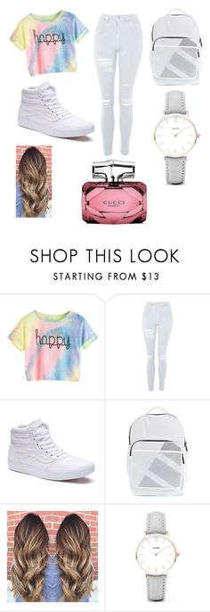 """"" by llstaytruell on Polyvore featuring Topshop, Vans, adidas Originals, CLUSE and Gucci"