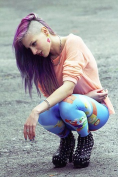 Punk. I would never be bold enough to attempt something so drastic. But I love it!!