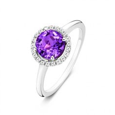 Want to make a statement? Then, this diamond darling is exactly what you're looking for. Give your outfit just that little extra with this trendy sterling silver ring. The magical Amethyst semi-precious stone in the middle, surrounded by 21 diamonds, will instantly light up the room. And you.. you'll be a part of all that magic. Absolutely lovely on their own but breath-taking in combination with the Tutti Colori bracelets. Time to shine!  We ship worldwide with the best carriers. For all…