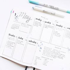 Minimalist Bujo / Weekly Layout Inspiration  See Instagram photos and videos from Angela (@coffeeblush)