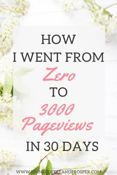 How I went from zero to 3000 Pageviews in 30 days