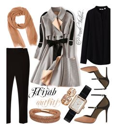 """""""#Hijab_outfits #modesty #Autumn"""" by mennah-ibrahim on Polyvore featuring Uniqlo, The Row, Reiss, Chanel, Swarovski and Repossi"""