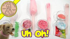 Cotton Candy Flavor Series: Rock Candy, WarHeads Powder, Red Hots & Hard Candy  #CottonCandy #WarHeadsCandy #RedHotsCandy