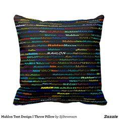 Mahlon Text Design I Throw Pillow