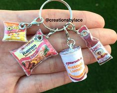 Original poster Pinner find on her site:👇 Limitless Laced Charms by Creationsbylace on Etsy Cute Little Things, Mini Things, Cool Things To Buy, Cute Keychain, Cool Keychains, Fimo Kawaii, Mexican Crafts, Mini Craft, Cute Charms