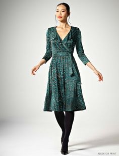 Lola frock in alligator print jersey by Leona Edmiston. I succumbed and bought it. Truly lovely.