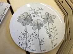 Personalized Wedding, Baby & Family Gift Pottery by Museware Pottery Sketchbook Collection