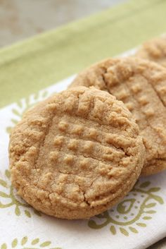 Old Fashioned 3 Ingredient Peanut Butter Cookies recipe by Barefeet In The Kitchen